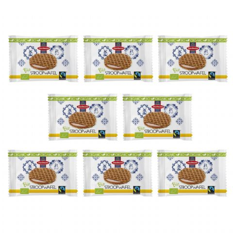 Organic Honey Individually Wrapped Mini Wafers Dutch Waffles Biscuits Stroopwafels Daelmans 7g